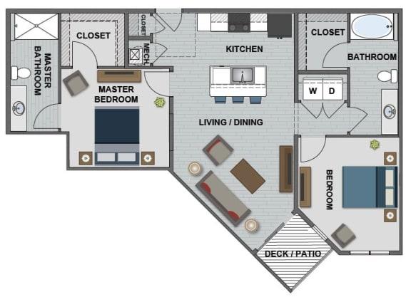 Whitney Floor Plan at The Edison at Bridlespur, Kansas City, 64114