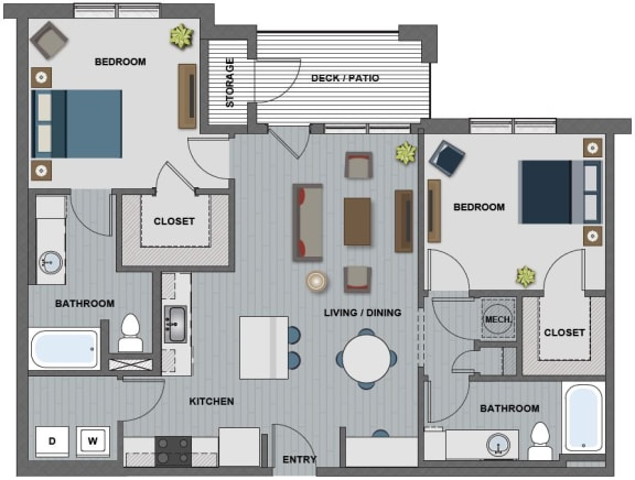 Whitney Floor Plan at The Edison at Riverwood, Tennessee