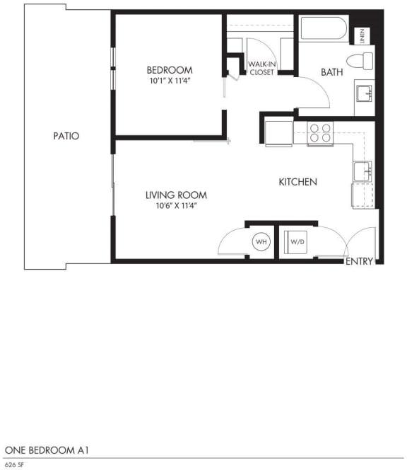 AIYA Apartments A1 2D Floor Plan