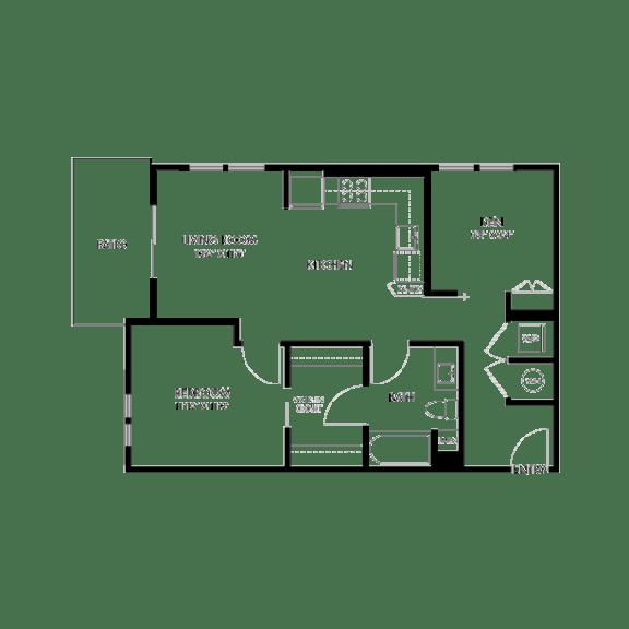 AIYA Apartments A4 2D Floor Plan