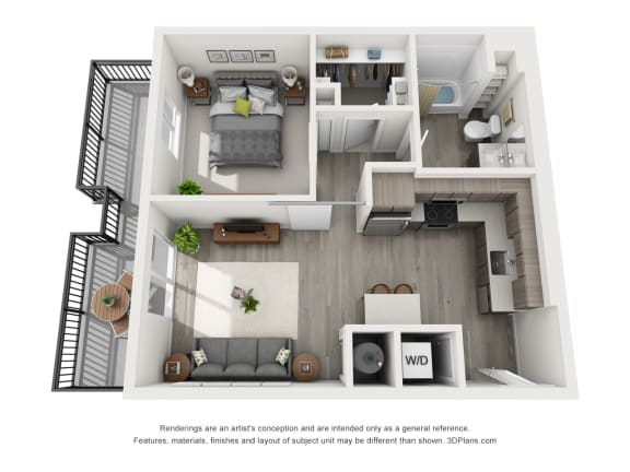 Aiya Apartments A1 Floor Plan