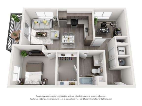 Aiya Apartments A4 Floor Plan