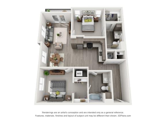 Aiya Apartments B2 Floor Plan
