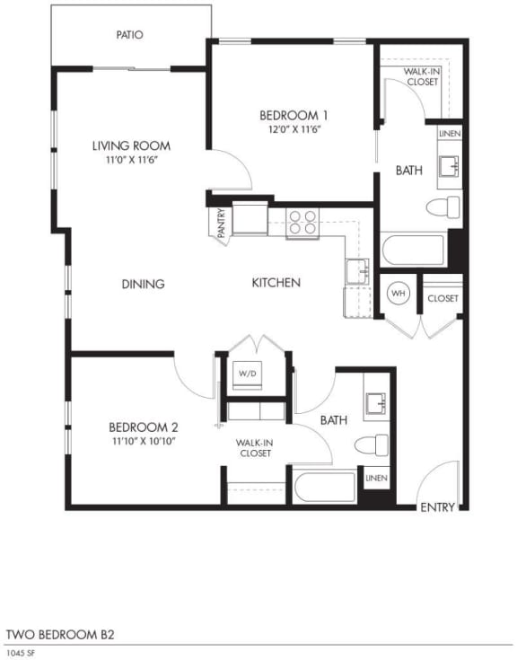 AIYA Apartments B2 2D Floor Plan