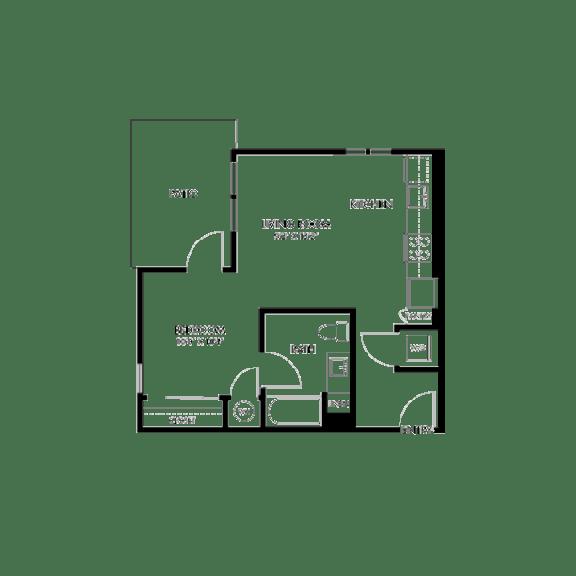 AIYA Apartments S1 2D Floor Plan