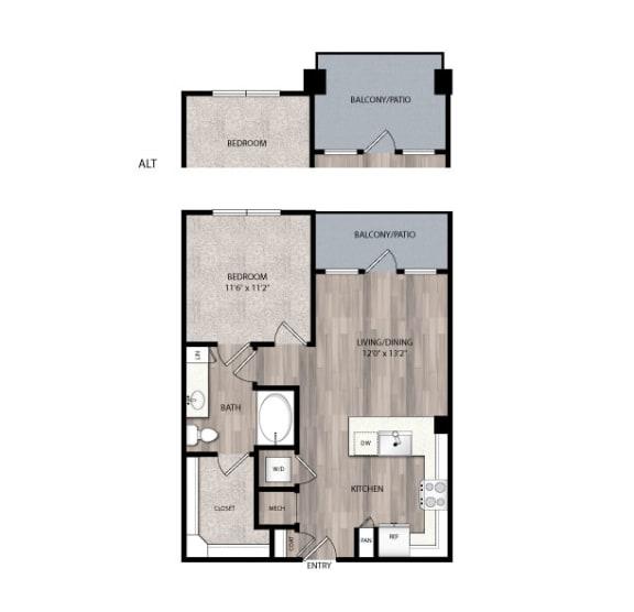 Floor Plan  The Edison at Frisco Apartments A1 Floor Plan