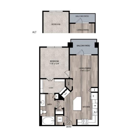 Floor Plan  The Edison at Frisco Apartments A2 Floor Plan