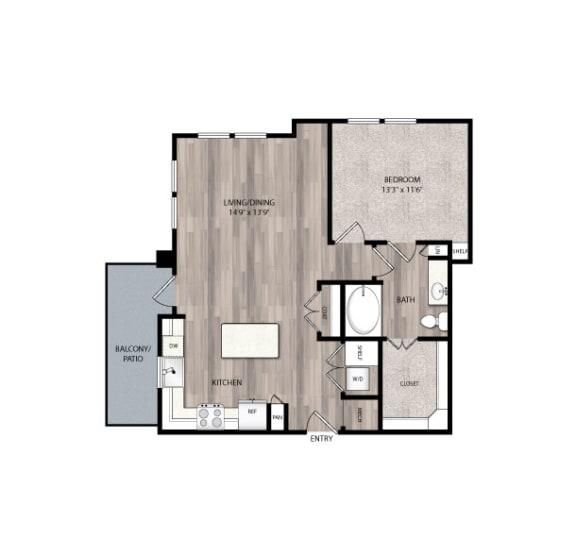 Floor Plan  The Edison at Frisco Apartments A3 Floor Plan