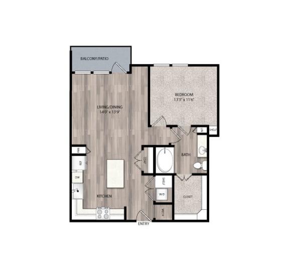 Floor Plan  The Edison at Frisco Apartments A3.1 Floor Plan