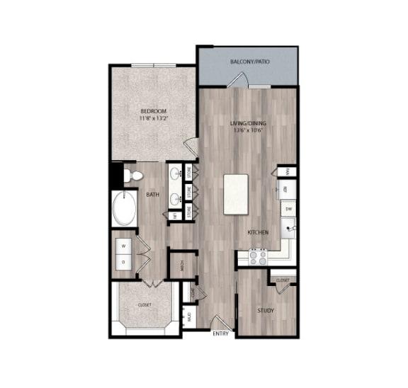 Floor Plan  The Edison at Frisco Apartments A5 Floor Plan