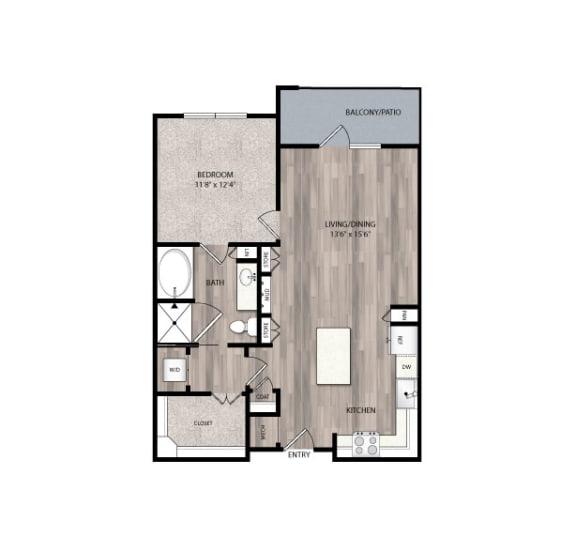 Floor Plan  The Edison at Frisco Apartments A4 Floor Plan