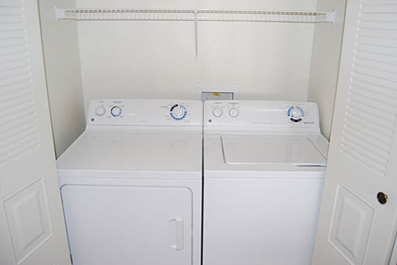 Extra Large Capacity Washer and Dryer at Brentwood Park Apartments in La Vista