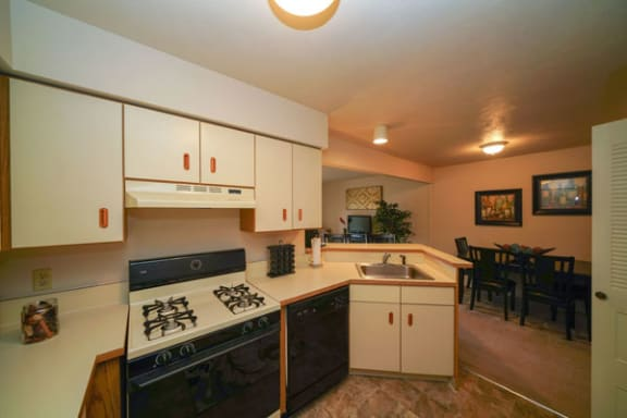 One Bedroom Kitchen at Glenn Valley Apartments in Battle Creek, Michigan
