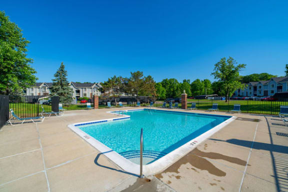 Free Wi-Fi At Pool with Large Sundeck at Canal Club Apartments, Lansing, MI