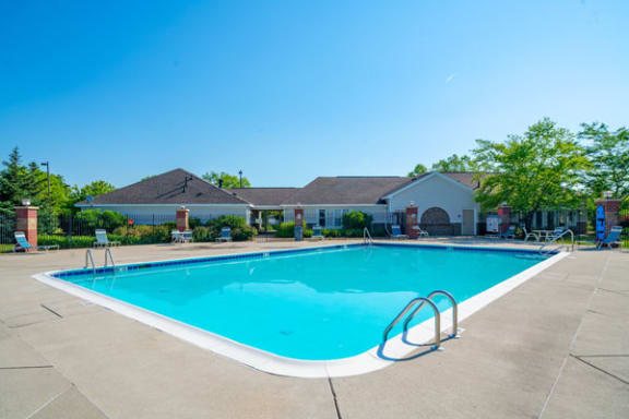 Refreshing Pool With Sundeck at Heatherwood Apartments in Grand Blanc, MI