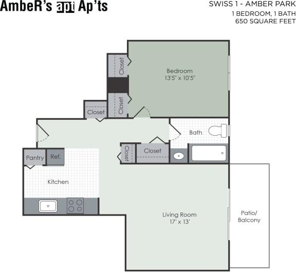 Floor Plan  1 bedroom floor plan layout