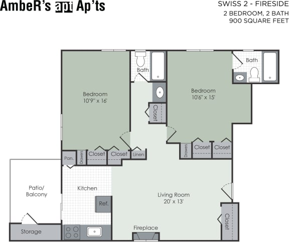 Floor Plan  Two bedroom floor plan layout