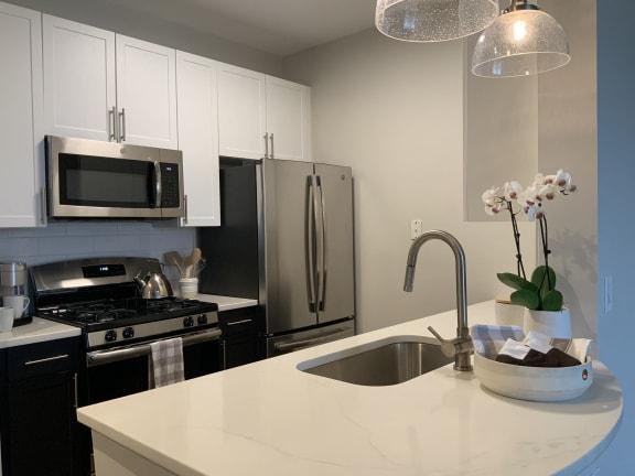 kitchen at Aura Pentagon City, Arlington, VA, 22202