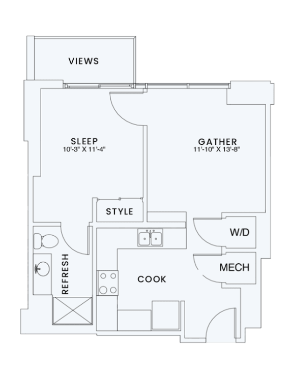 Floor Plan  Skyhouse plan A1