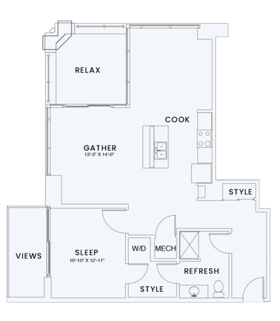 Floor Plan  Skyhouse plan A11T