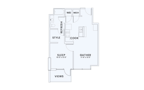 Floor Plan  Skyhouse plan A3A