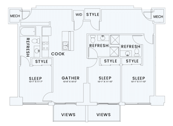 Floor Plan  Skyhouse plan C1