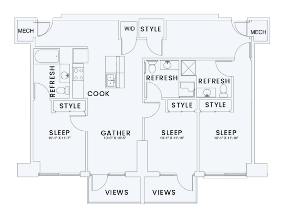 Floor Plan  Skyhouse plan C1A