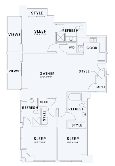 Floor Plan  Skyhouse plan C2