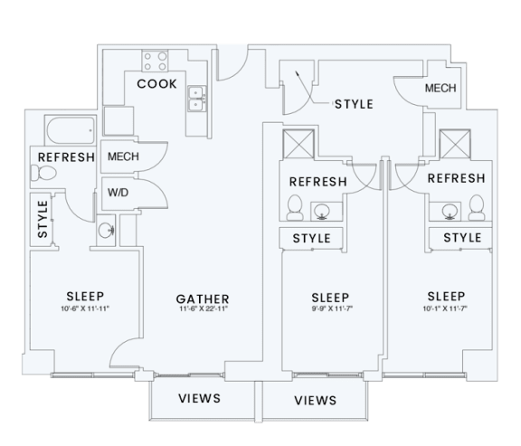 Floor Plan  Skyhouse plan C3