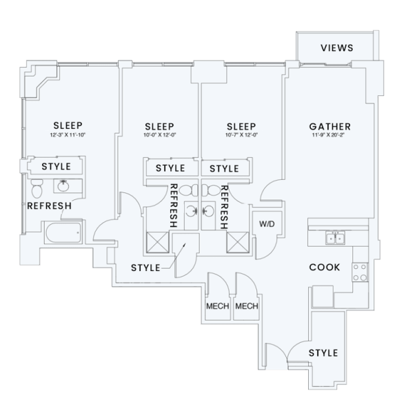 Floor Plan  Skyhouse plan C4