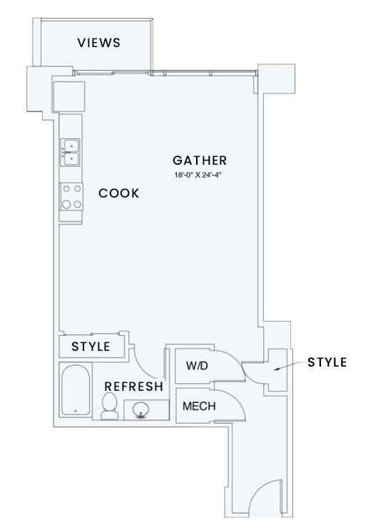 Floor Plan  Skyhouse plan S5
