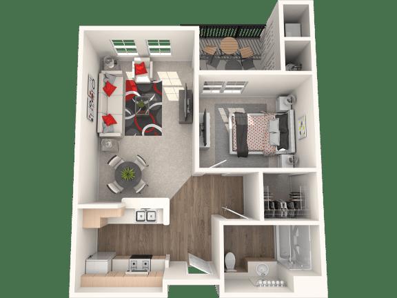 Floor Plan  Anacapa Floor Plan at 55+ FountainGlen Stevenson Ranch, Stevenson Ranch, CA