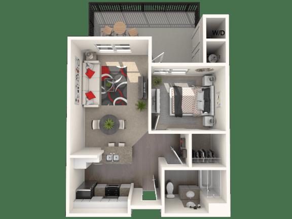Bungalow - One bedroom, one bathroom unit at FountainGlen Temecula