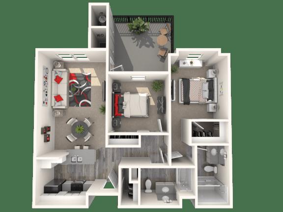Floor Plan  Cabernet Floor Plan at 55+ FountainGlen Terra Vista, Rancho Cucamonga, California