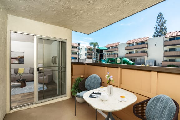 Large Private Patios and Balconies