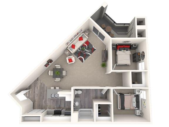Floor Plan  Glen Floor Plan at 55+ FountainGlen Laguna Niguel, Laguna Niguel, CA