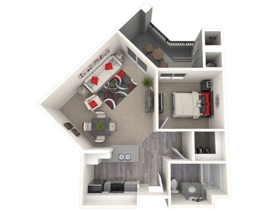 Floor Plan  Green Floor Plan at 55+ FountainGlen Laguna Niguel, California