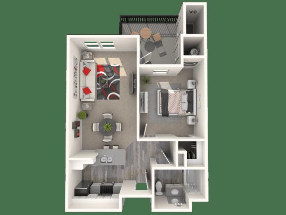 Floor Plan  Merlot Floor Plan at 55+ FountainGlen Terra Vista, California, 91730