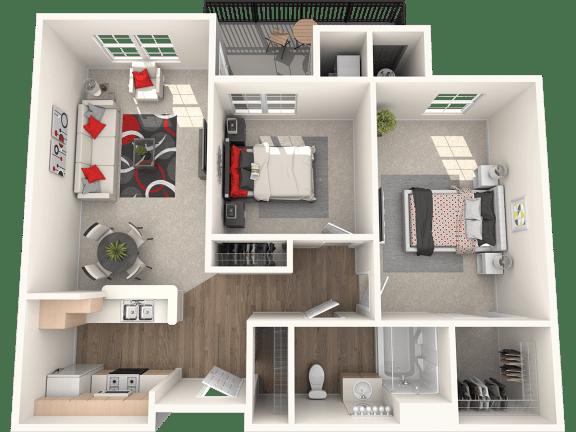 Floor Plan  San Clemente Floor Plan at 55+ FountainGlen Stevenson Ranch, California, 91381
