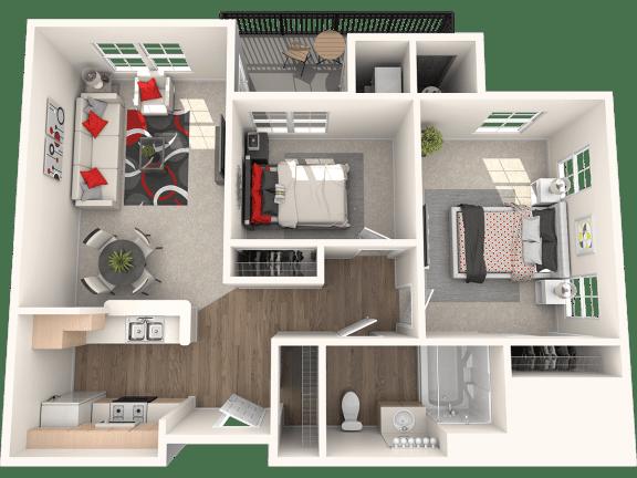 Floor Plan  San Gabriel Floor Plan at 55+ FountainGlen Stevenson Ranch, California