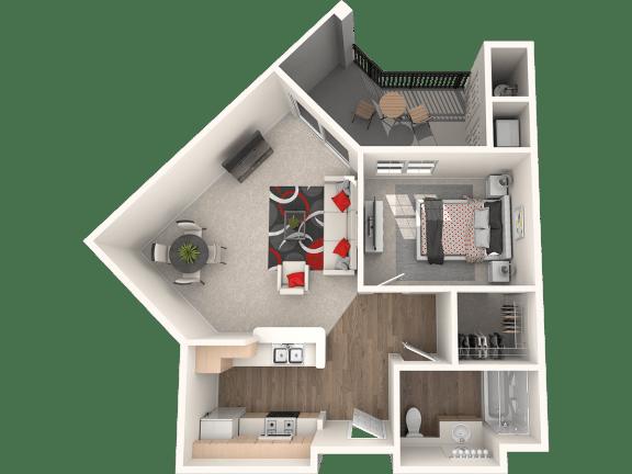 Floor Plan  Santa Cruz Floor Plan at 55+ FountainGlen Stevenson Ranch, Stevenson Ranch, 91381