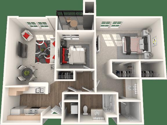 Floor Plan  Santa Rosa Floor Plan at 55+ FountainGlen Stevenson Ranch, Stevenson Ranch, CA, 91381
