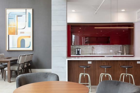 Expansive Clubroom with Kitchen