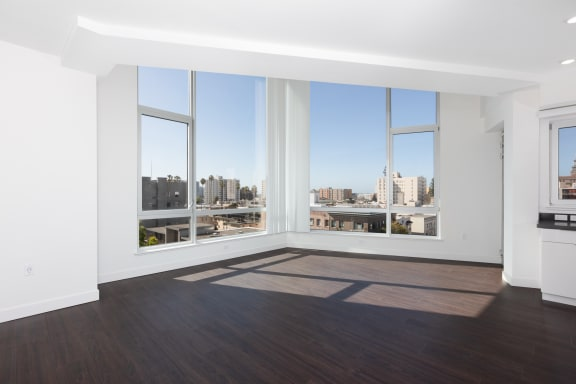 Hardwood style floor in vacant unit