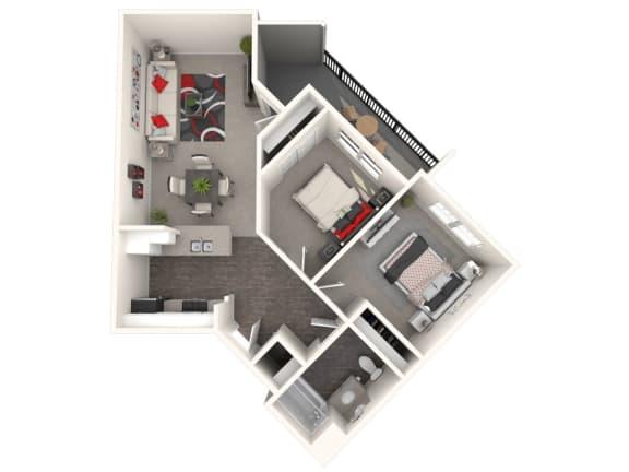 Floor Plan  Tuscany Floor Plan at 55+ FountainGlen Rancho Santa Margarita, California, 92688