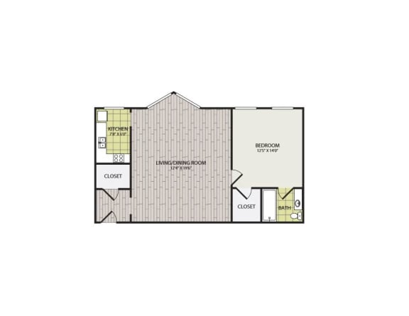 Broadview Apartments 1A Floor Plan