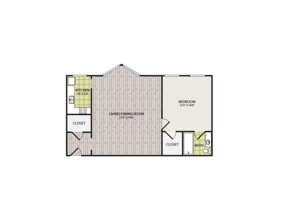 Floor Plan  Broadview Apartments 1A Floor Plan