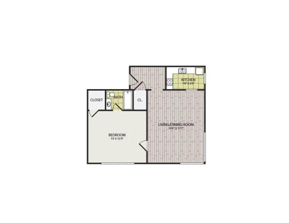 Floor Plan  Broadview Apartments 1G Floor Plan