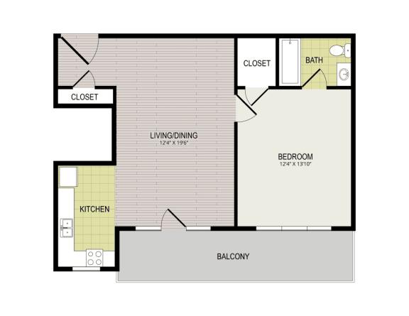 Broadview Apartments 1I Floor Plan