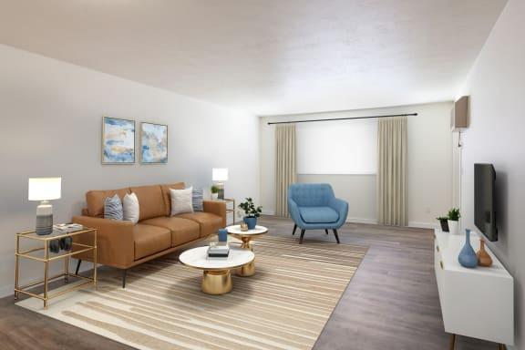 GoGo West Apartments Model Living Room